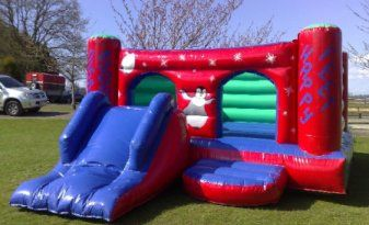 20x15 Happy feet Bouncy Castle with slide